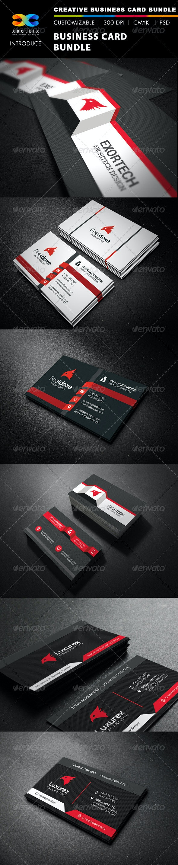 Business Card Bundle 3 in 1-Vol 37 - Corporate Business Cards