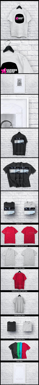 T shirt Collection Mockup - T-shirts Apparel