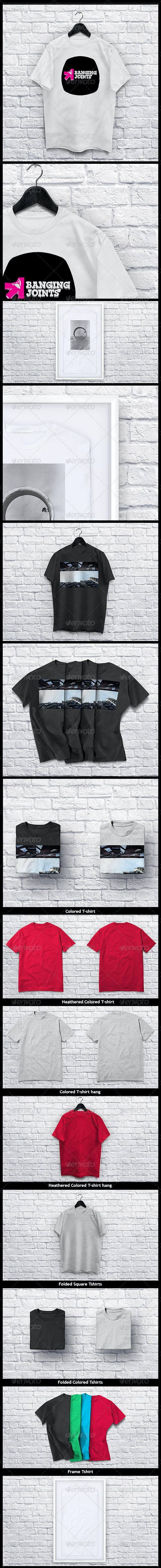 T shirt Collection Mockup - T-shirts Apparel