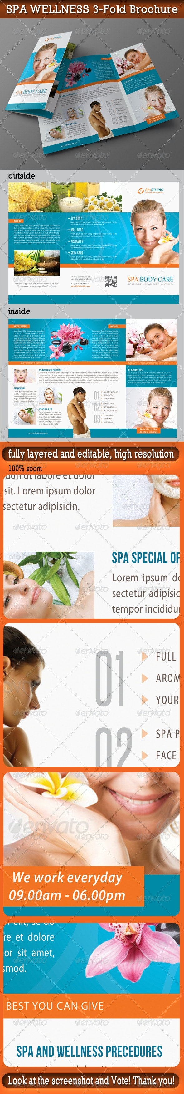 Spa Wellness 3-Fold Brochure 03 - Informational Brochures