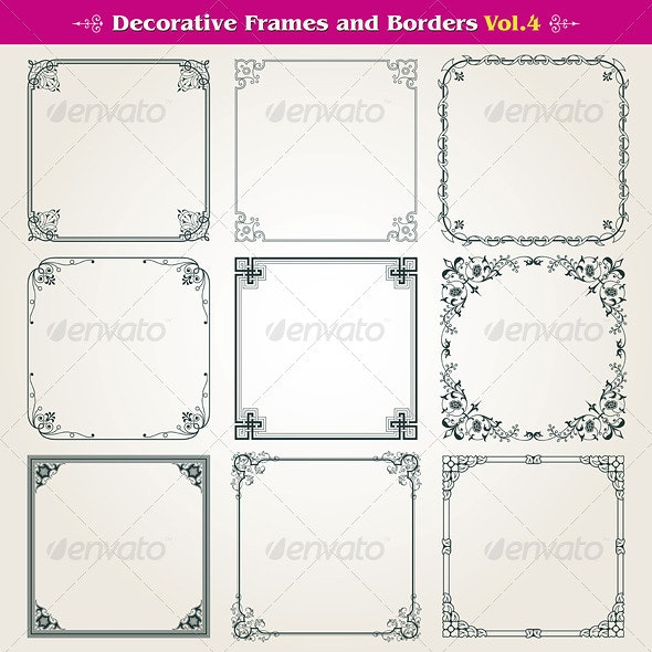 Decorative Frames And Borders Set - Borders Decorative