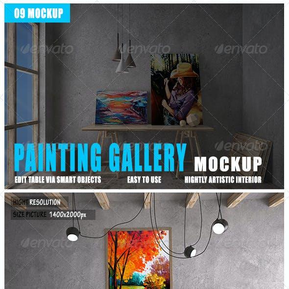 Painting Gallery Mockup