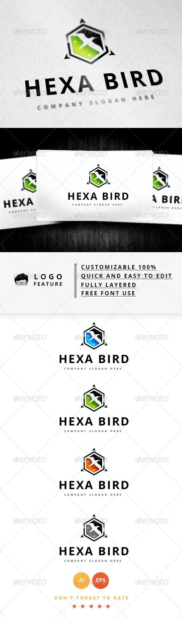 Hexa Bird Logo - Logo Templates