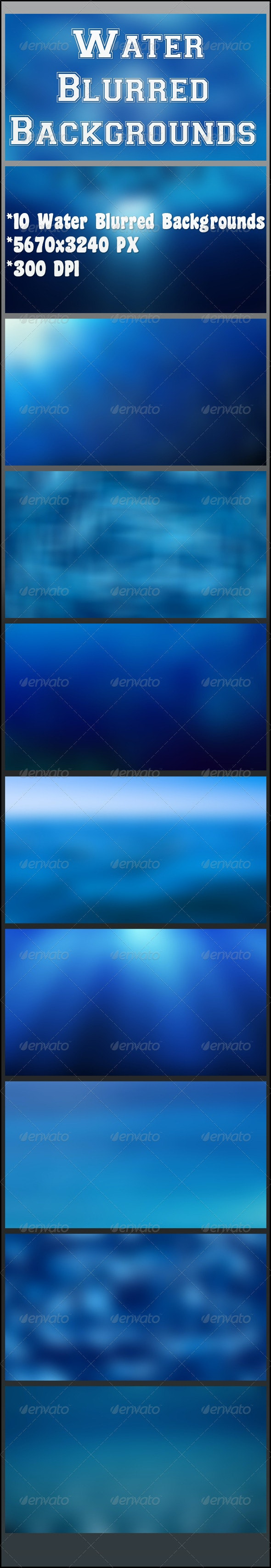 Water Blurred Backgrounds - Nature Backgrounds