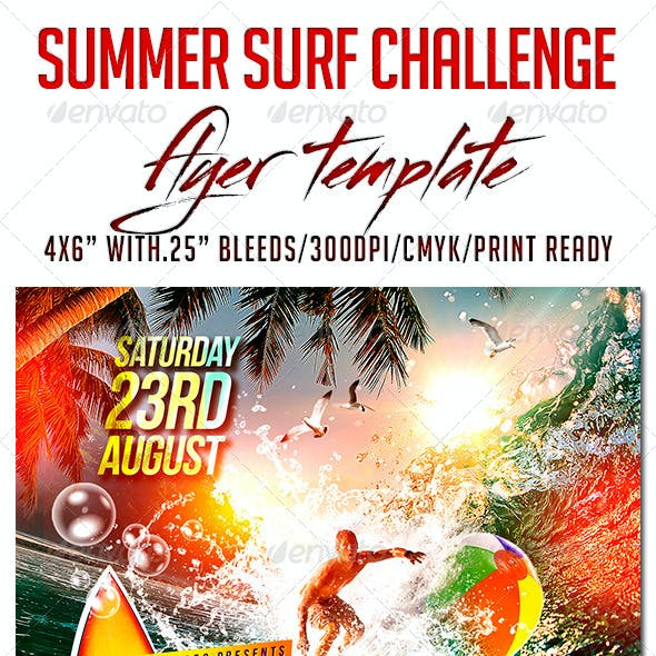 Summer Surf Challenge Flyer Template