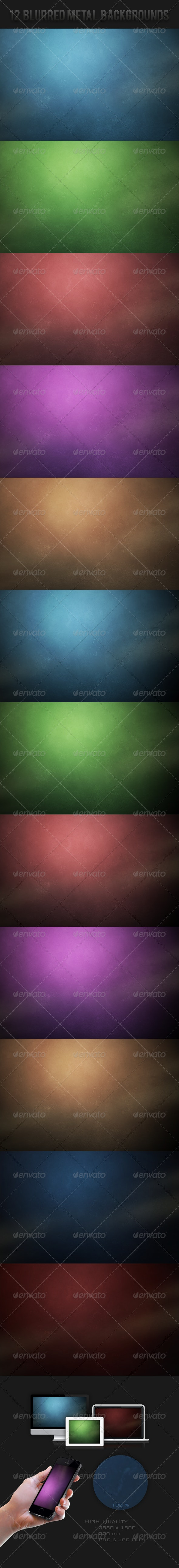 Blurred Metal Backgrounds - Abstract Backgrounds