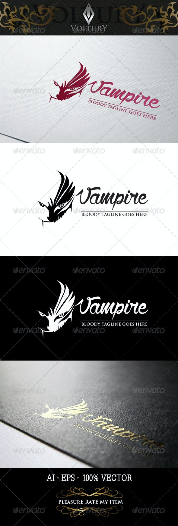 Vampire Logo - Vector Abstract