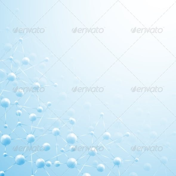 Blue Molecule Background
