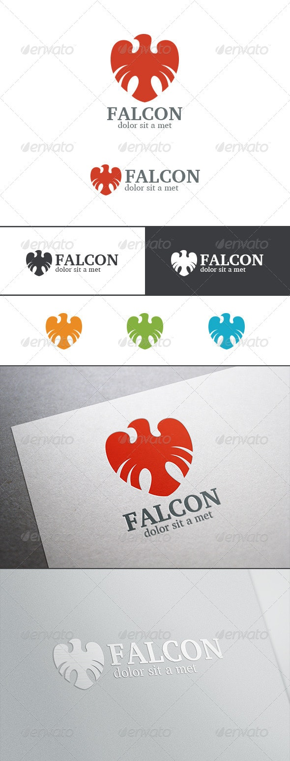 Heraldry Logo Bird Abstract - Animals Logo Templates
