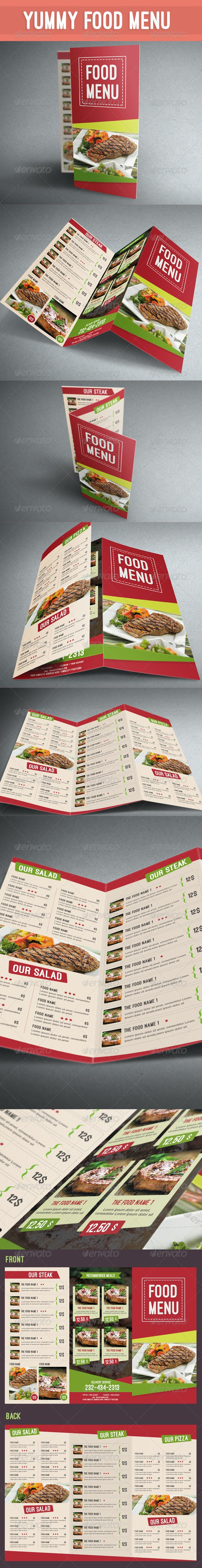 Yummy Food Menu - Food Menus Print Templates