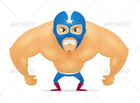 Masked Wrestler - People Characters