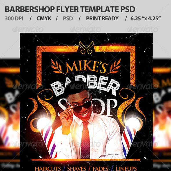 Barbershop Flyer Template PSD