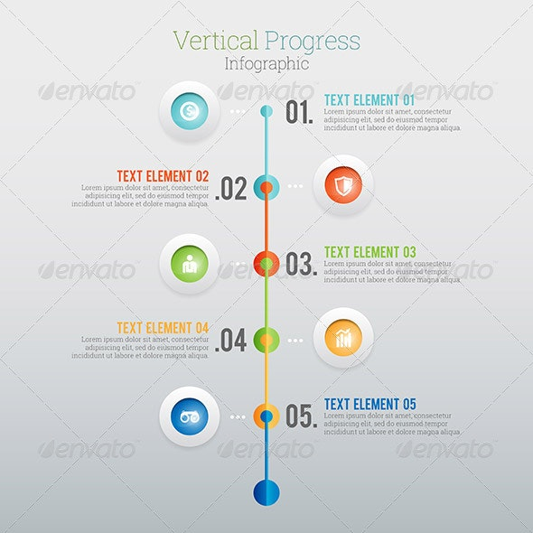 Vertical Progress Infographic - Infographics