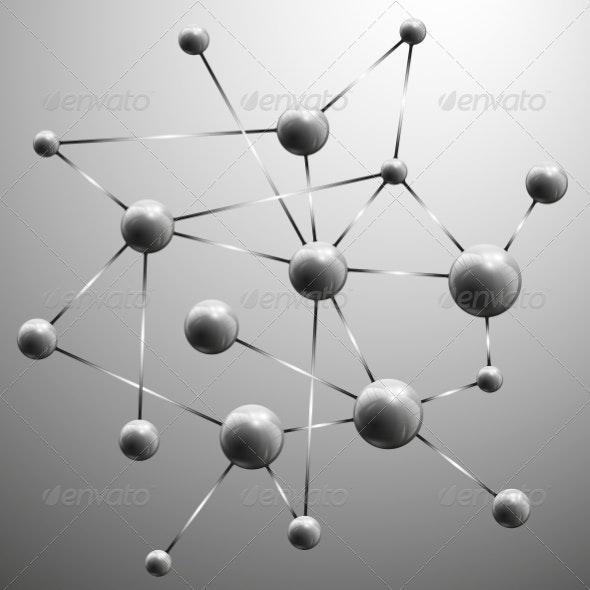 Molecule Structure Background - Backgrounds Decorative