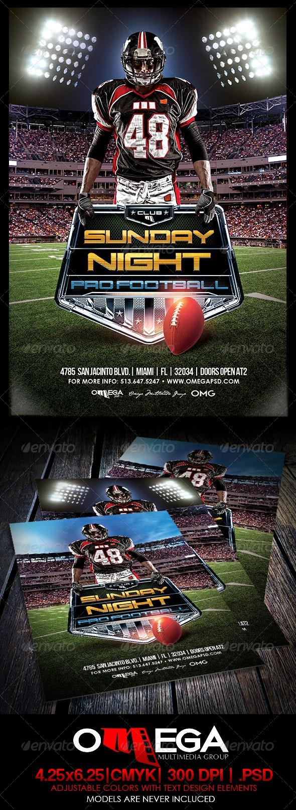 Sunday Night Pro Ball - Events Flyers