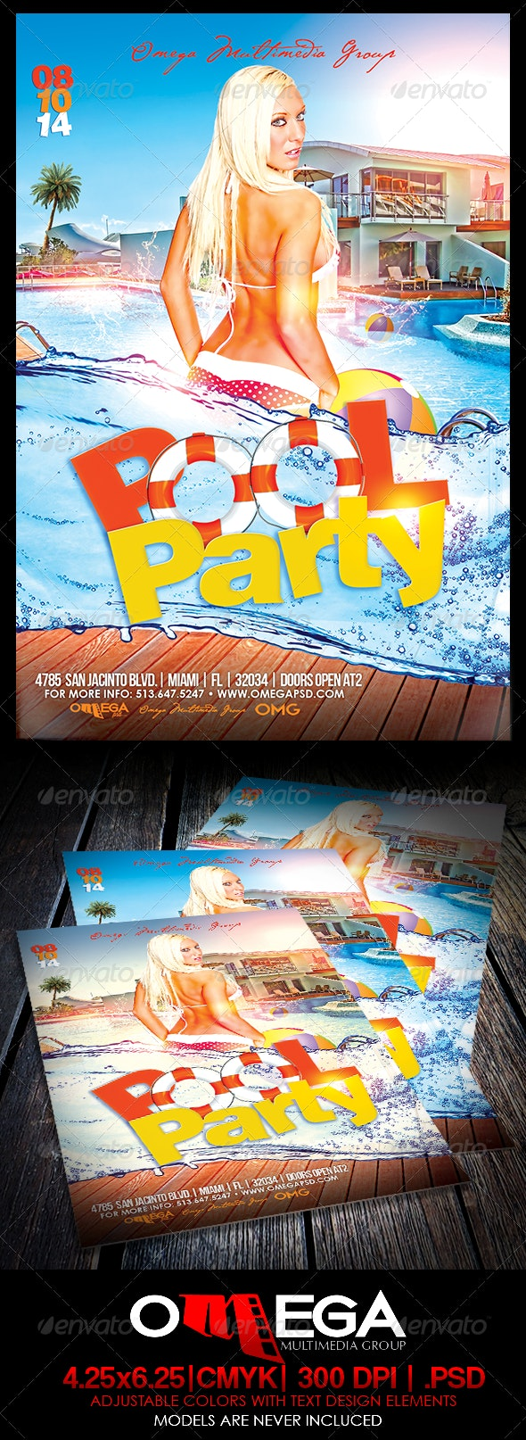 Pool Party - Events Flyers