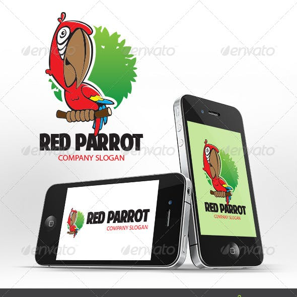 Red Parrot Logo Template