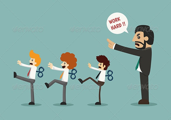 Businessmen with Wind-Up Keys - Concepts Business
