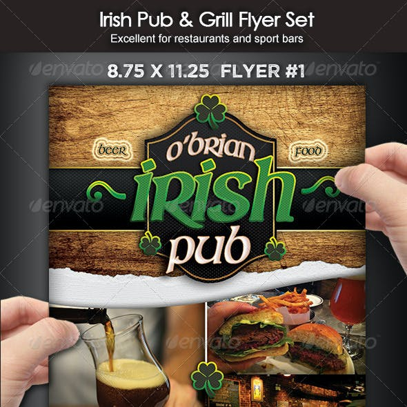 Irish Pub & Grill Flyer Set