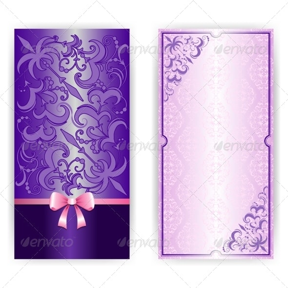 Template for Greeting Card Invitation - Backgrounds Decorative