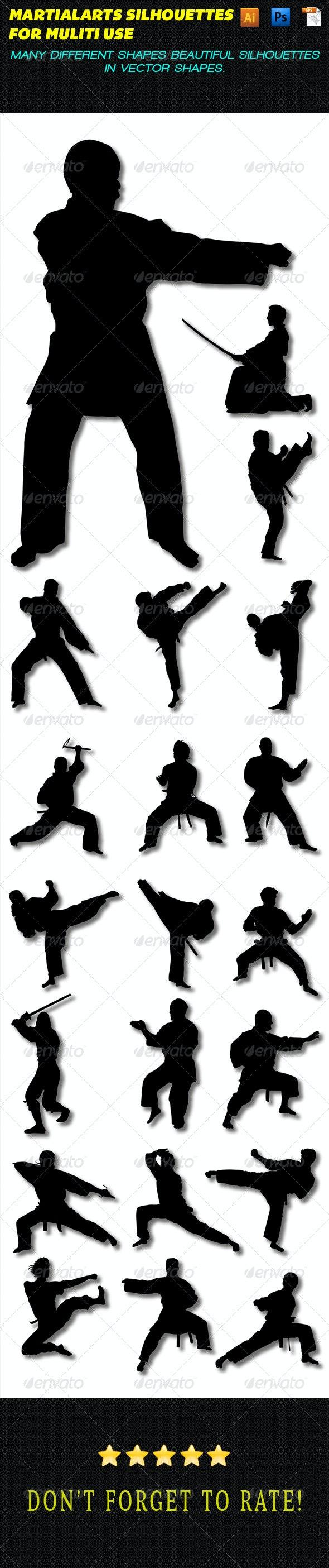 Martial Arts Silhouettes - Sports/Activity Conceptual