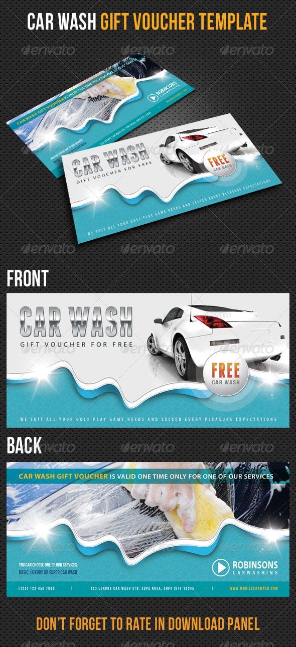 Car Wash Gift Voucher V12