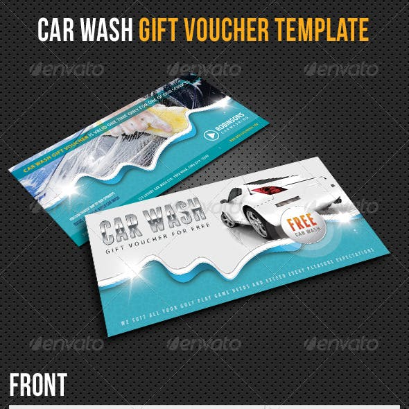 Car Wash Gift Voucher V12