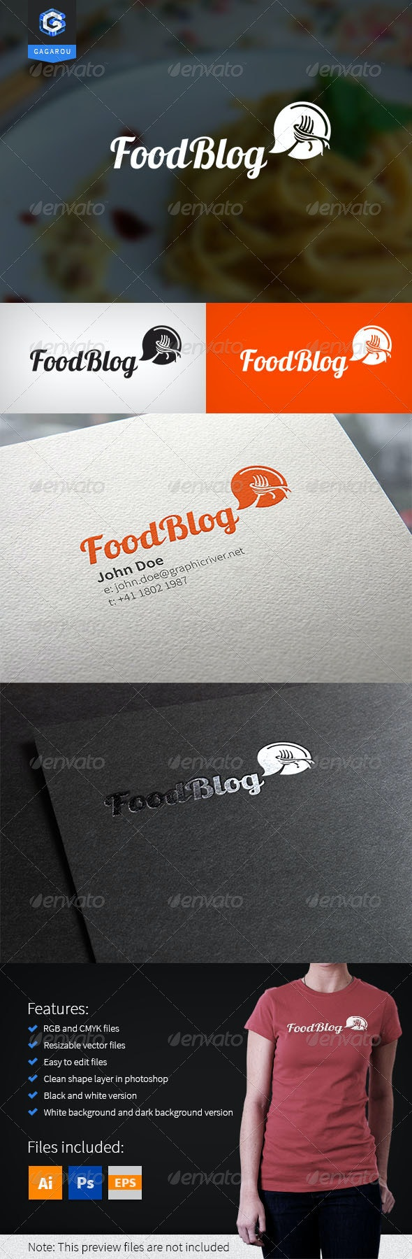Food Blog - Food Logo Templates