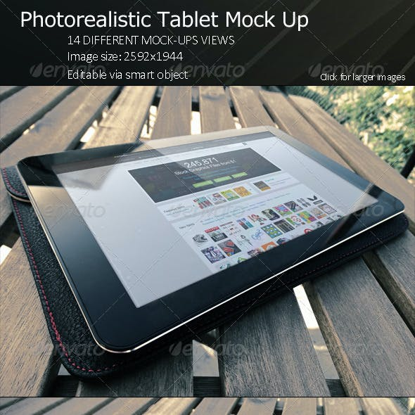 PhotoRealistic Tablet Mock Up
