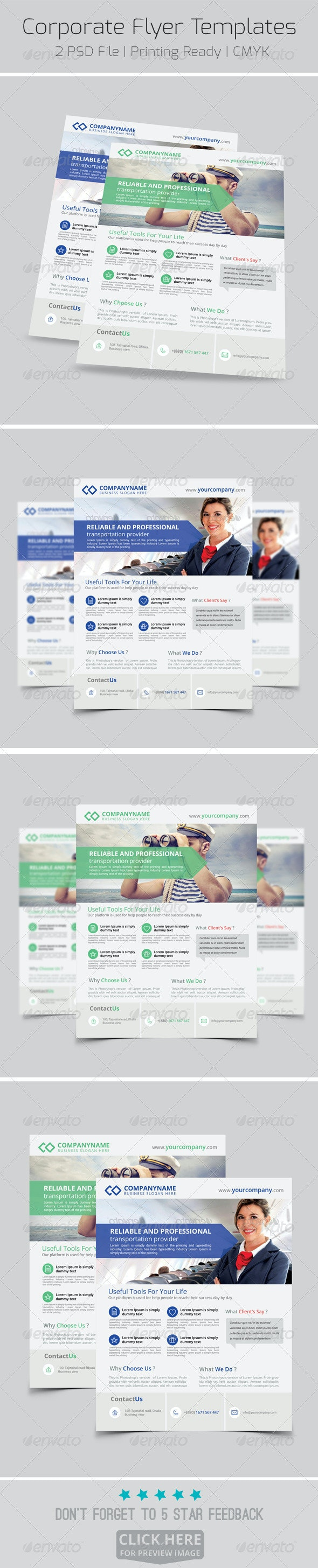Modern Corporate Flyer Templates - Corporate Flyers