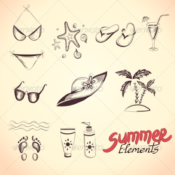 Summer Elements for your Design - Seasons Nature