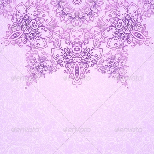 Ornate Vintage Wedding Card Background By Art Of Sun Graphicriver