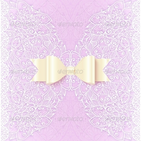 Ornate Lacy Wedding Invitation Card Cover - Weddings Seasons/Holidays