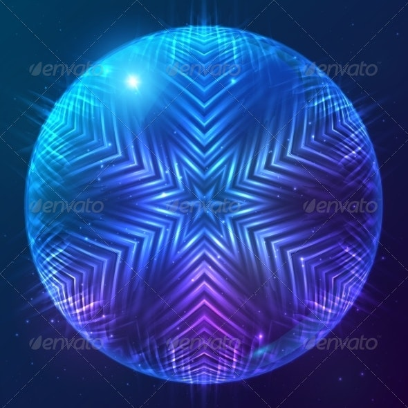 Abstract Shining Cosmic Sphere - Abstract Conceptual