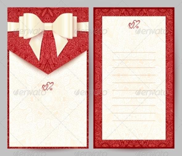 Elegant Red Greeting Card - Valentines Seasons/Holidays