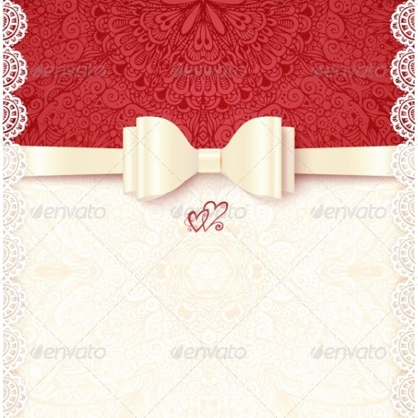 Vintage Wedding Card Template