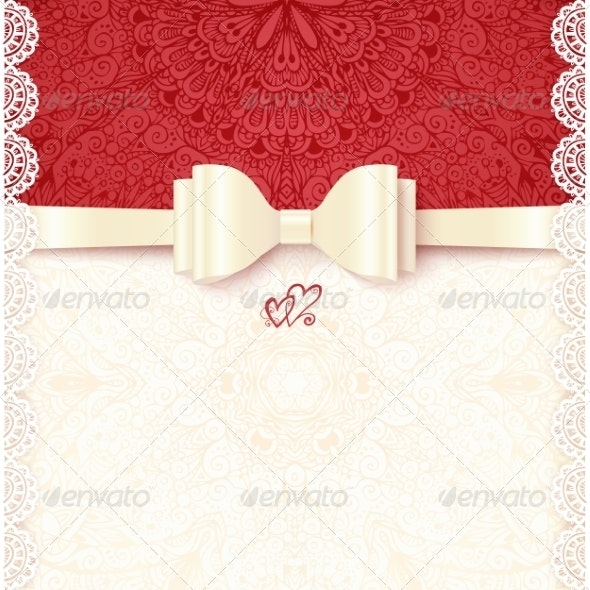 Vintage Wedding Card Template - Weddings Seasons/Holidays