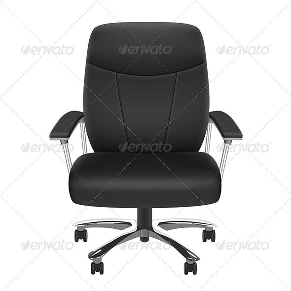 Black Chair - Man-made Objects Objects