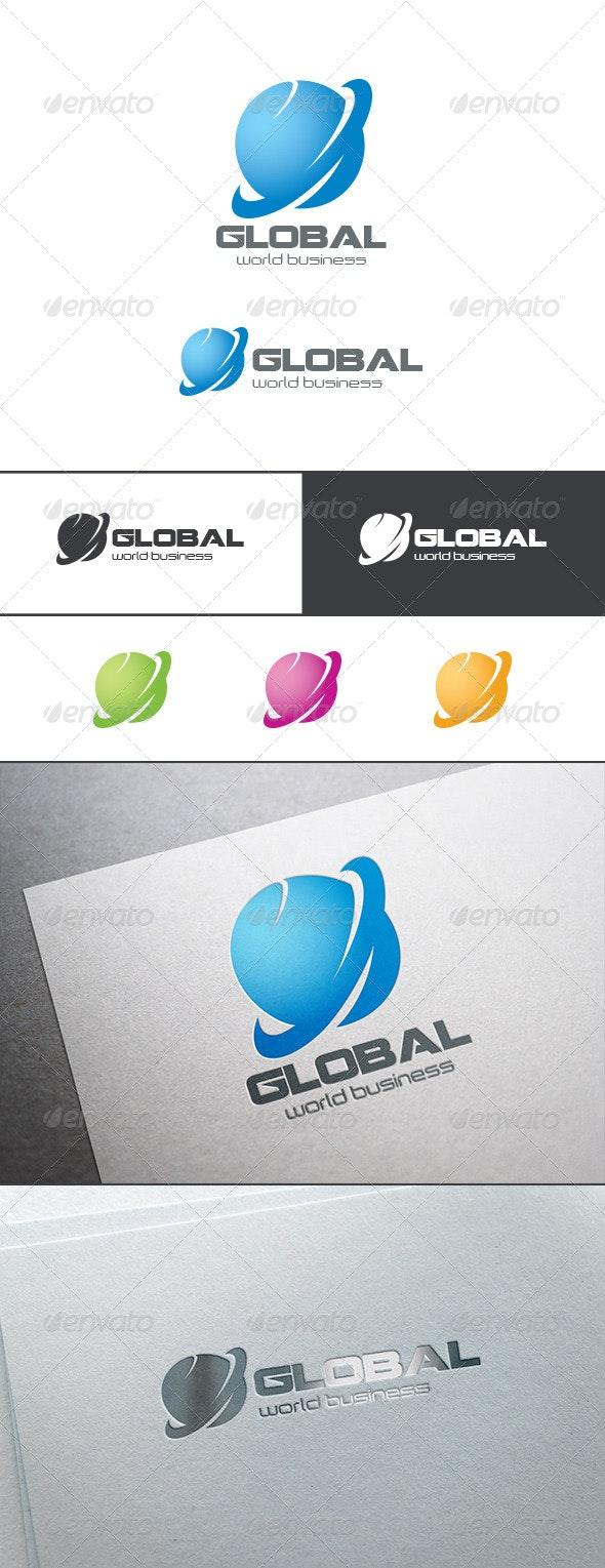 Global Business Logo Abstract - Symbols Logo Templates