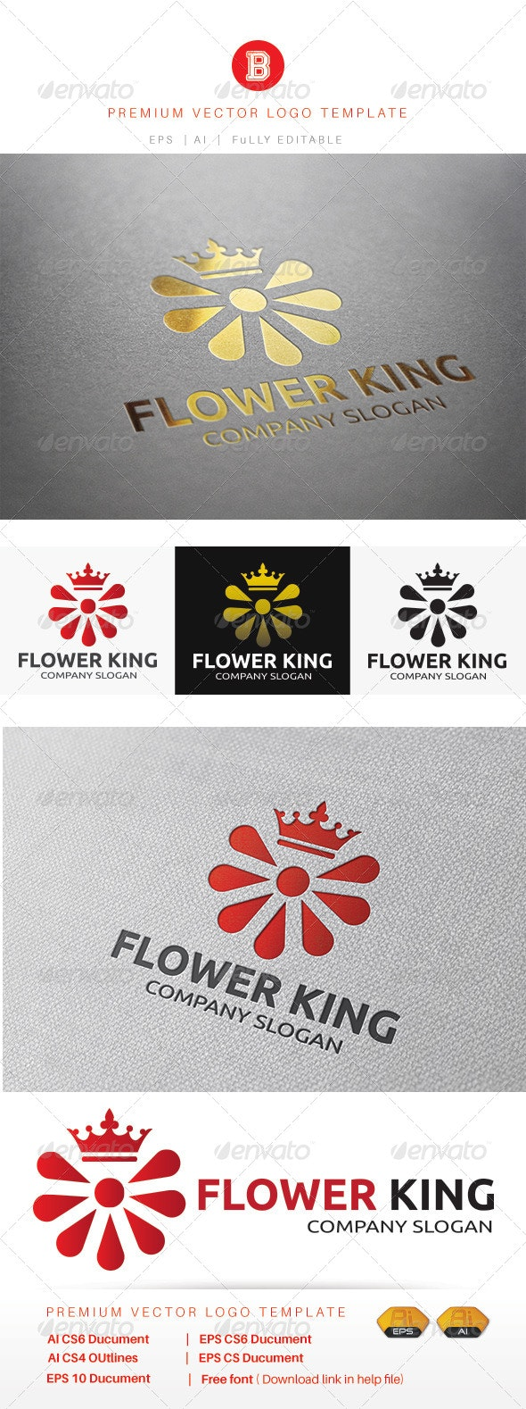 Flower King - Nature Logo Templates