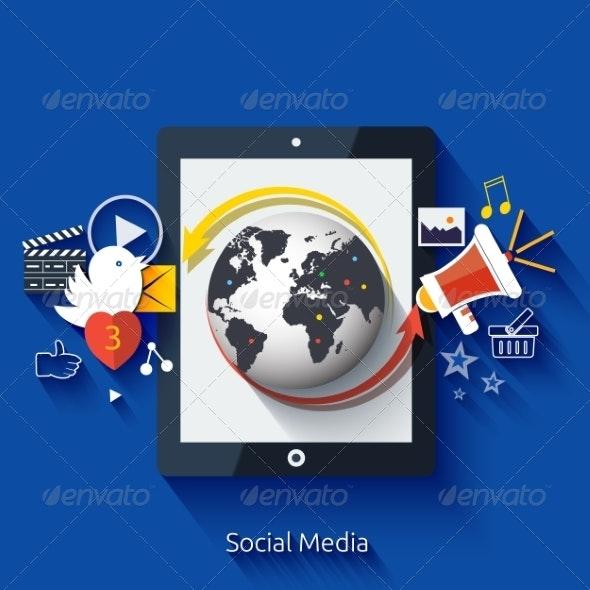 Social Media Application Icons - Media Technology
