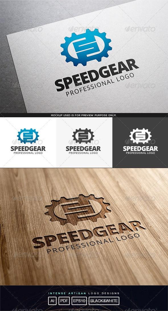 Speed Gear Logo Template - Letters Logo Templates