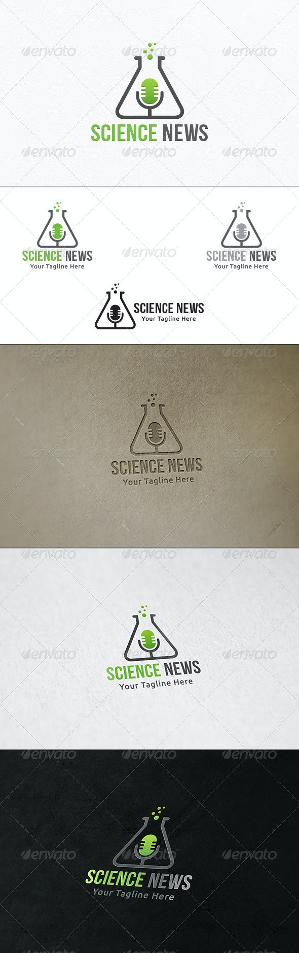 Science News - Logo Template  - Symbols Logo Templates