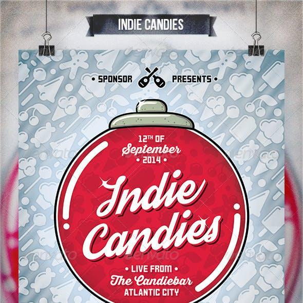 Indie Candies - Flyer & Poster
