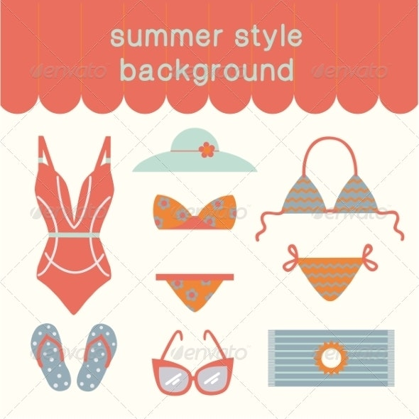 Summertime Vacations and Traveling Background. - Travel Conceptual