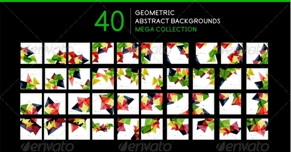 Mega Collection of Triangle Backgrounds - Abstract Conceptual