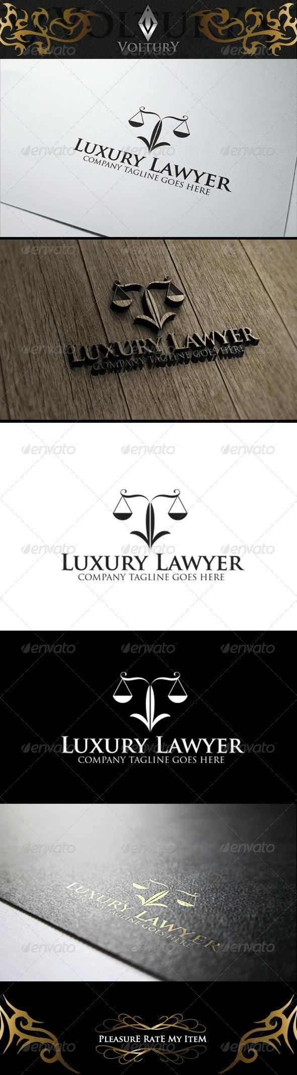 Luxury Lawyer Logo - Symbols Logo Templates