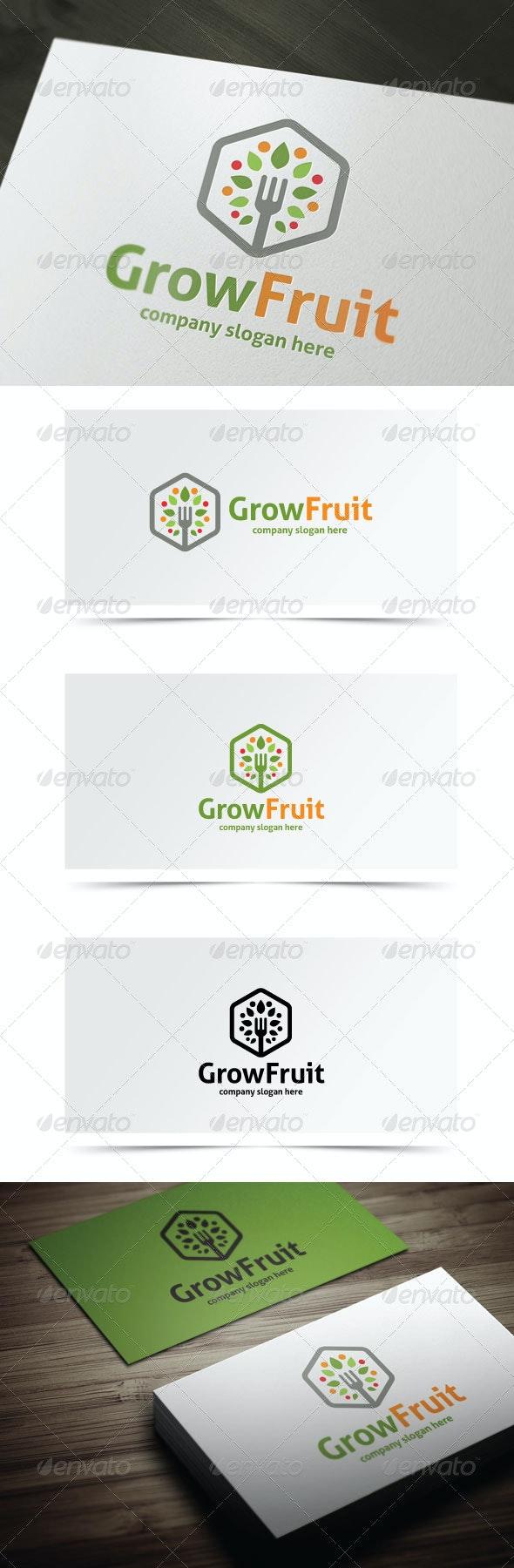 Grow Fruit - Nature Logo Templates