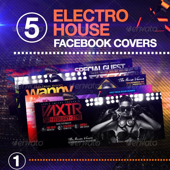 05 Electro House Facebook Covers