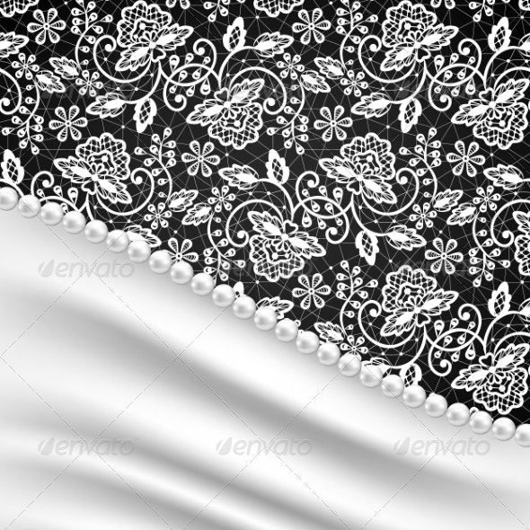 Silk Drapery and Pearl Necklace - Backgrounds Decorative